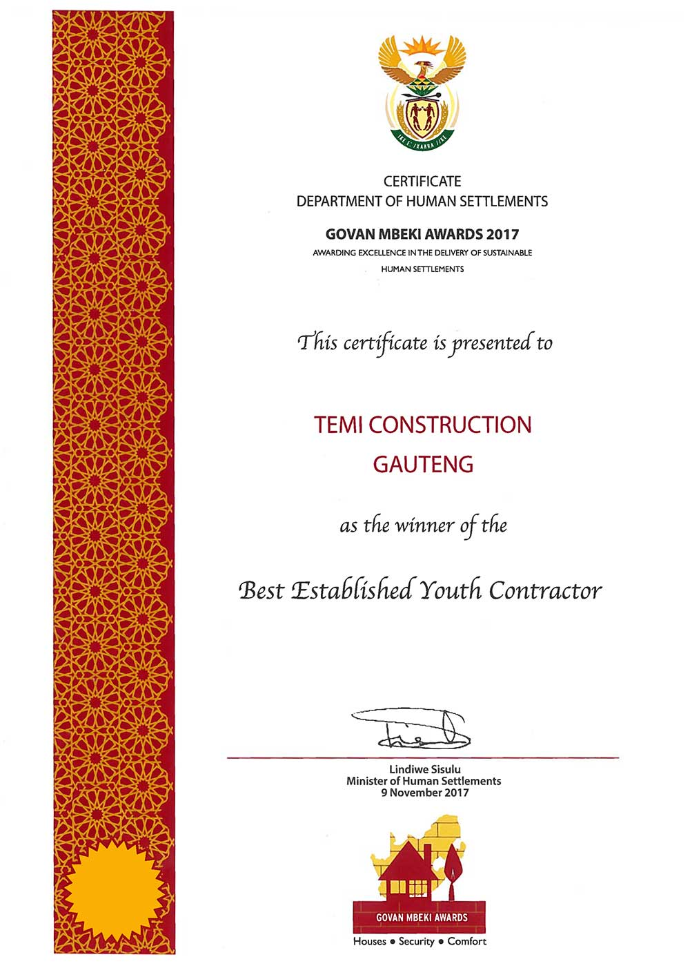 best established youth contractor 2017 temi00 - Hometest