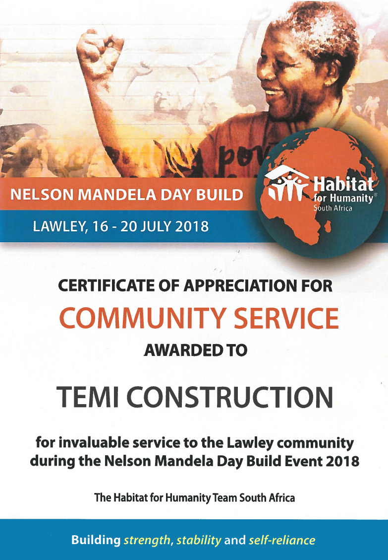 Certificate from Habitat for NMBW Temi image crop - Hometest